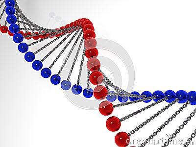 3d model molecule dna