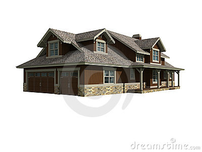 3d model of ranch home