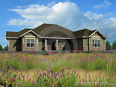 3d model of ranch house