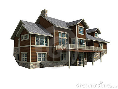 3d model of two level home