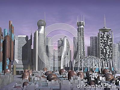 3d Model van stad sc.i-FI
