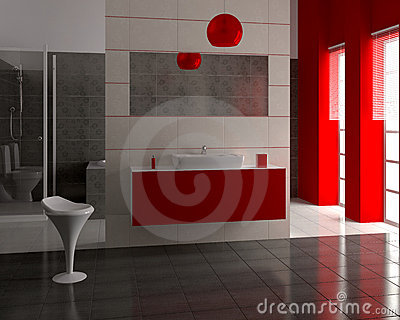 3d modern bathroom