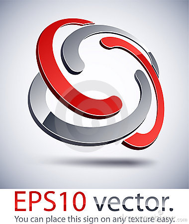 Free 3D Modern Braided Logo Icon. Royalty Free Stock Photo - 22917595
