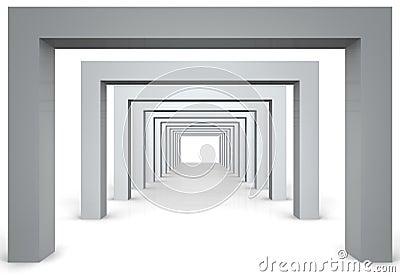 3d modern hall