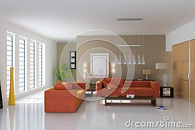 3d modern living room