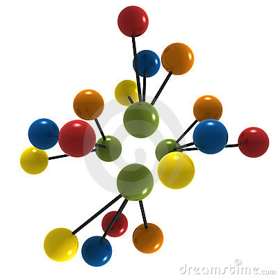 Free 3d Molecule Royalty Free Stock Photos - 3141858