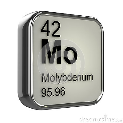 Free 3d Molybdenum Element Royalty Free Stock Image - 39065676
