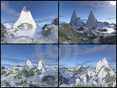 3D mountains