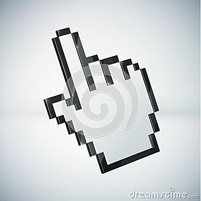 3d mouse hand cursor