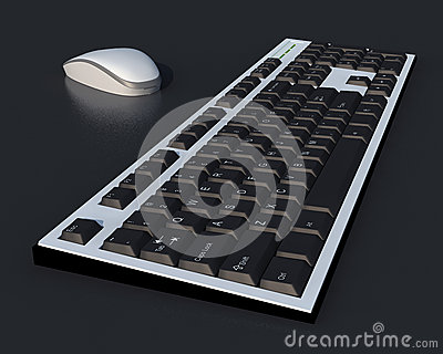 3D mouse and two tones keyboard