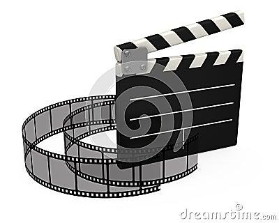 3d movie clapper board