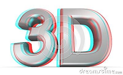 3D movie concept.