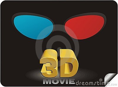 3D movie sticker