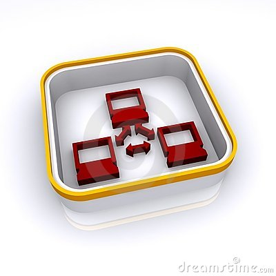 3D network button