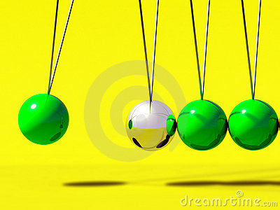 3d Newtons cradle ball
