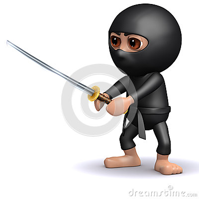 Free 3d Ninja In Fighting Pose Stock Images - 38789914