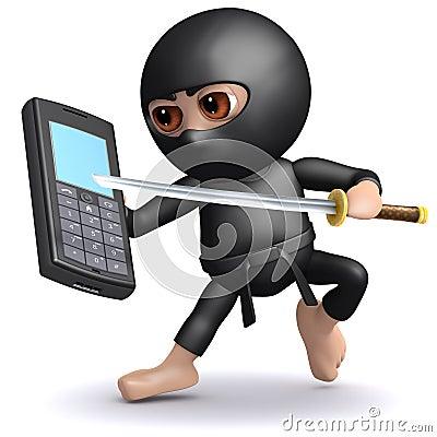 Free 3d Ninja Mobile Stock Images - 38790224