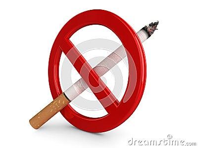 3D  No Smoking  sign