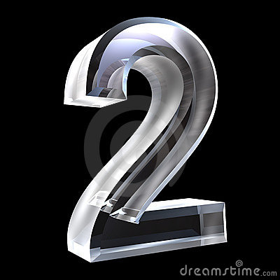 3d Number 2 In Glass Royalty Free Stock Photos Image