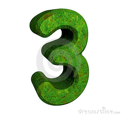 3d Number 3 Green Stock Image - Image: 6912211