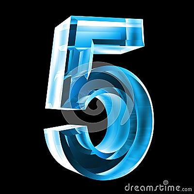 3d Number 5 In B...Ten Of Spades
