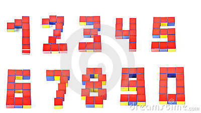 3d numbers by Cubes nine