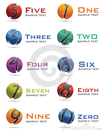 3D Numbers Logo
