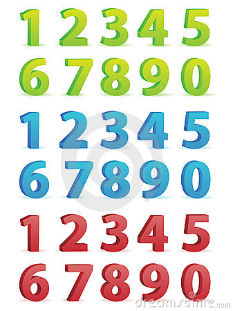 Free 3D Numbers Set Royalty Free Stock Photo - 20411555