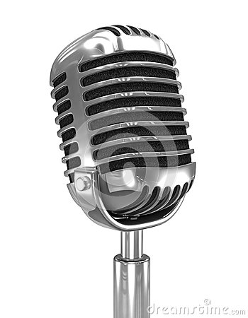 Free 3d Old Radio Microphone Royalty Free Stock Photos - 39369518