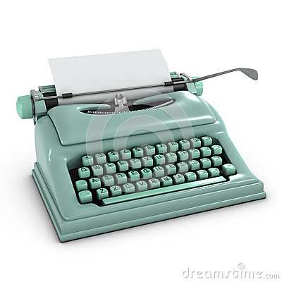 Free 3d Old Typewriter Royalty Free Stock Photo - 39151815