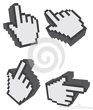 Free 3D One Finger Click Web Icon Vector Illustration Stock Photography - 71500352