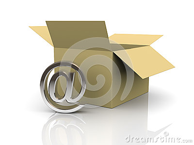 3d open box and email sign
