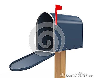 3d open mailbox