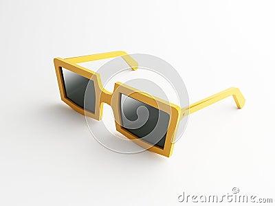 3d orange sunglasses