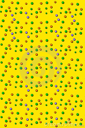 3D Outlined Dots Yellow