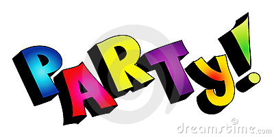 3D party text isolated