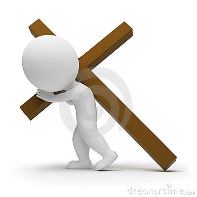 3d pelengu krzyża ludzie mali