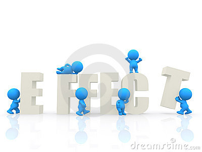 3D people around the word effect