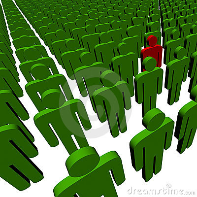 Free 3d People - Outsider Royalty Free Stock Image - 5637776