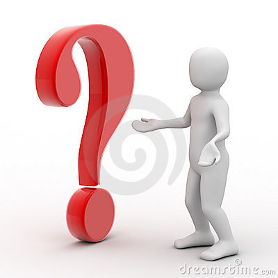 Free 3d Person And Question Mark Royalty Free Stock Images - 7519009