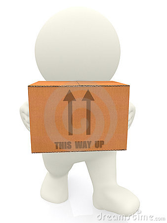 3D person carrying box