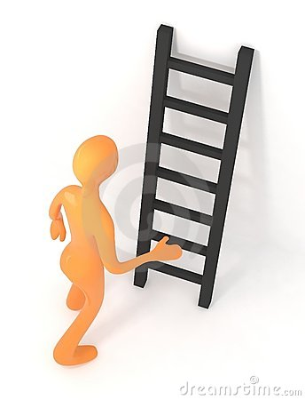 3d person is going to climb upon ladder
