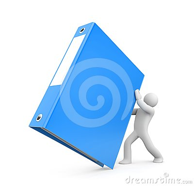 Free 3d Person Hold Binder Royalty Free Stock Photography - 24414267
