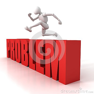 3d person jumping over a hurdle obstacle problems