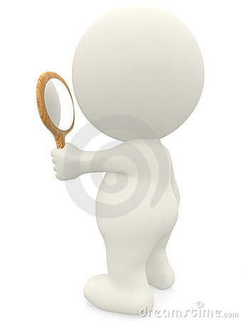 3D Person Looking In A Mirror Royalty Free Stock Photo ...