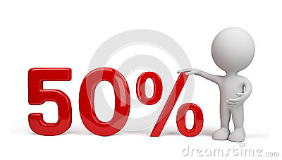 3d person with percent