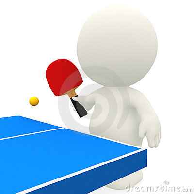3D person playing ping-pong