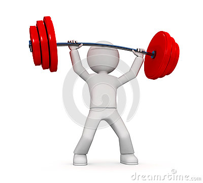 Free 3D Person Power Lifting   Stock Image - 25460321