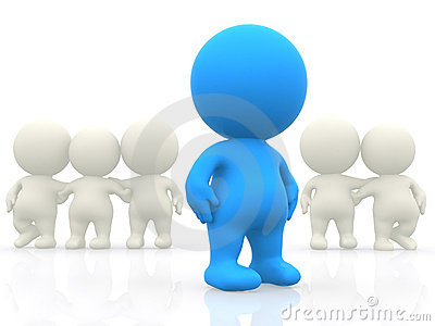 3D person standing out