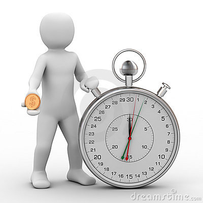 3d person and stopwatch
